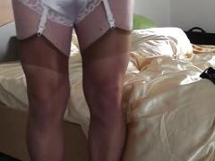 Viola wake up in lingerie
