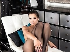 Chelsea likes black pantyhose they enhance the shape and definition of her sexy legs and ass!