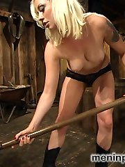 This farmers daughter always gets what she wants, and today she wants this farmhands cum on her...