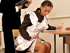 Spanked OTK for cheating at school