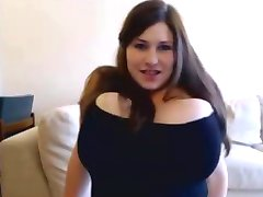 Huge titted chubby girl toying