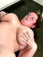 The fat girl has him aroused like he cant believe so he goes home to fuck her flabby pussy