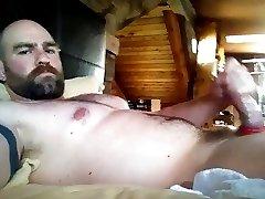 Hot Beared Jerk-Off
