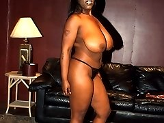 Black babe with massive tits and a thick ass getting fucked