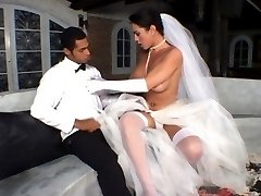 Shemale bride ready for outrageous anal fucking just after wedding ceremony