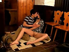 This lucky stud just walked through the door and this horny teen was all over him. She was...