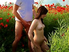 It\'s every romantic girl\'s dream for a prince charming to fuck their brains out on a field of flowers, and since it\'s every guy\'s dream to fuck a hot girl, we get outdoor fucks like this one!