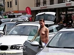 Teen flasher in a public streets