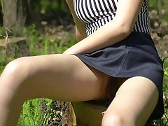 Outdoor upskirt shots