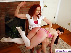Ludella Spanked by Mother-in-Law