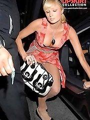 Up skirt of Paris Hilton