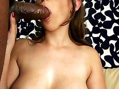 Cock Lover Sara Taking Big Black Bone Deep In Tight Gash