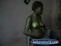 Shy Ebony Teen 19yo