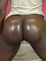 Mina�s plump rump rides a big black dick