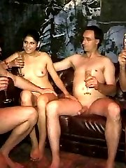 Amateur-made swinger footage recorded in one of private swing clubs