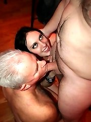 Daughter watches as Father-in-Law sucks COCK