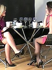 Watching two cute nymphs in high high-heeled slippers is one of the great pleasures of having a boot fetish. The sensation, super-cute and fulfilling draws the fetishist closer to the ladies heel, the concentrate of his love, as his fetish for them is intensified