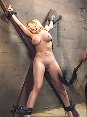 When bitchy, big tit American tourist Kagney Linn Karter gets caught at the Mexican border with a purse full of pills, the border police are none too pleased with her privileged attitude. Border Policia Marco Banderas puts the busty rich bitch in a cell, handcuffs her, strip searches her and when she protests he shoves his hard cock down her throat to shut her up.Stripped and jailed, Kagney is taken out of her cage only to be used as a plaything for the sadistic guard. He cuffs her to the St Andrews Cross and sexually torments her for fun - that Sick Bastard.When her jailer grows tired of tormenting Kagney's huge, creamy tits, he ties her down and fucks that privileged American bitch right in the ass with his huge Mexican cock. Kagney learns to love the attention, and begs for more as Marco spills his hot seed all over his slutty captive. Kagney takes a hit to her Pride and Privilege, but learns a hard lesson in international relationships.