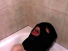 Masked freak gets a wild femdom treatment from bossy beauty in sexy lingerie