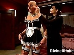 This week we have the second installment of a fetish that I personally adore, feminization. I ask you this week to allow me to push your buttons and challenge your manhood stripping you of your entire identity and pushing gender rolls beyond conventional thinking for the sake of getting off! Sean arrives as himself and leaves as Dixie, my new French maid ready to serve anyone and do anything I desire. Dixie learns to be of sexual service to any and all of my friends and if I'm satisfied Dixie will be able to serve the live action shoot this coming Friday. Being a woman is tough and Dixie learns this the hard way with plenty of cruel whipping and deep deep humiliation dished out by me. I fuck her man pussy deep until her clit stick is engorged and she can't help but squirt her juice all over and so much more! This is on sissification transformation you don't want to miss!
