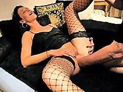 Kinky brunette slut fist fucked by her barbarous lover