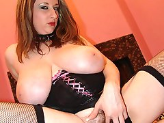 Busty pornstar Kitty taking dicks in her mouth and hairy pussy before she gets glazed with cum