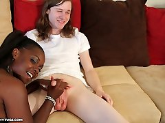 Ghetto Milking - Interracial Hand Jobs Ebonytugs.com