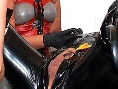 Cynthias' rubber slave