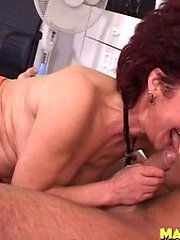 This mature slut really loves the cock