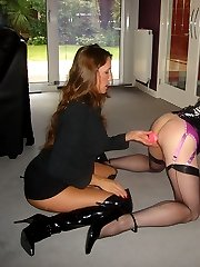 StrapOn Jane plays with hot TGirl Luci May