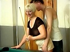 Sexotic mature slut fucking in billiard room