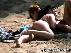 Sexy nudist couple go forsome heated making out and cocksucking on the shore