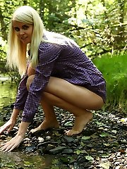 Danielka had decided to take a walk in the woods behind her house the other day but as she got sexier and sexier she realized that she was going to have to find a way to spectacular herself down!