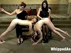 If you missed the LIVE version of this shoot you're in luck! This is the edited version straight to all the best action! Watch as Maitresse Madeline, Bobbi Starr and their sluts for the day, Lily Labeau and Mallory Malone interact with you, the members, in a night of intense lesbian domination and sex! The girls are stripped of their clothes, pussies and tits clamped together in bondage and given an intense whipping! They are caned, ass fucked, fisted, strap-on sex and have their pussies eaten for so long that their pleasure becomes their torture! Enjoy the raw intense action one more time!