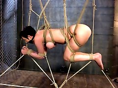Cherry Torn returns for yet another display of beautiful submission and extreme bondage endurance.  Claire Adams skillfully dominates in her cool, psychological approach.  She creates sensational suspensions leaving Cherry trapped like prey in a spider's web.