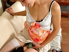 Wild sissified maid getting his first taste of wire-on into his pink hole