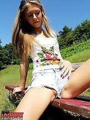 Sexy shorts cameltoe shot in closeup