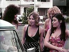 Amber Lynn, Tiffany Clark, Ashley Welles in vintage sex movie