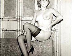 Vintage wearing stockings