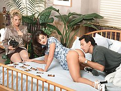 Stephanie Swift and Missy banged in threeway