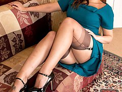 Pru? Well Pru is a hottie that Sophie is fantasising over, wanting some sexy lesbian nylon fun!