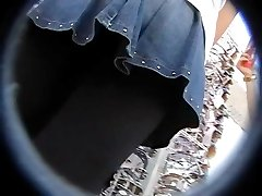 Old fashioned upskirt panty