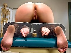 Krissy Leigh's overnight stay at the hospital is full of sexual domination and lesbian sex.  Nurse Madeline checks her patient for healthy holes with a fist in her pussy and a large strap-on cock in her ass.  Pain tolerance is checked and fluid specimens are collected after induced orgasms.  Includes fisting in bondage, pussy and ass licking, suction cups, strap-on anal sex and more.