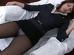 Pantyhose Asian Office Damsel Teasre