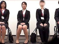 Utrolig Japansk jente Minami Kashii, Sena Kojima, Riina Yoshimi i Hotteste støping, office JAV scene