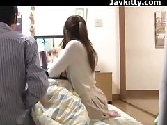 Japanese Amateur Couple See Porn Together