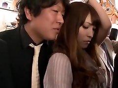 Galen Japansk flicka Kokomi Sakura i Hetaste Fingering, Offentliga JAV klipp
