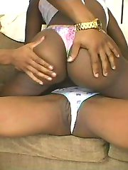 Ebony amateur admires her hot body in the mirror
