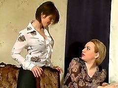 Bored milf getting bent down by her younger co-worker for pussy fingering
