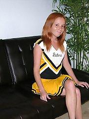 Nude Petite Redhead Cheerleader Modeling Nude